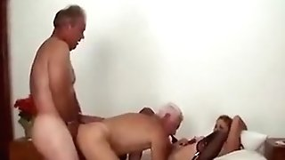 Matures Bi-curious Duo Threesome