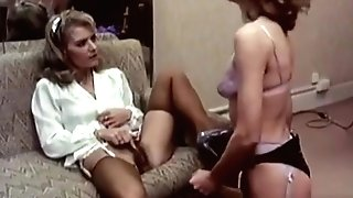 Retro Lezzies Strap On Dildo Fuck