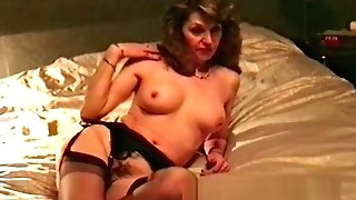 Wifey Retro Striptease And Caress Before Blowage