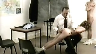 Spanked And Stripped In The Classroom. Antique.