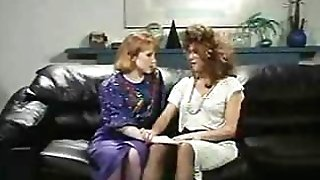 Retro Office Lesbos Slit and Bootie Munching Strapon